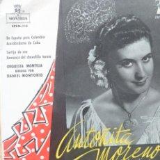 Discos de vinilo: ANTOÑITA MORENO EP SELLO MONTILLA EDITADO EN ESPAÑA AÑO 1959.... Lote 287457933