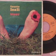 """Discos de vinilo: 7"""" FAUSTO LEALI - HIPPY - MARFER MR 20.118 - SPAIN PRESS- SAN REMO 70 (VG+/VG++). Lote 287472223"""