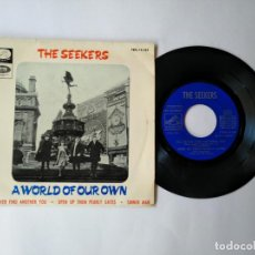 Disques de vinyle: THE SEEKERS - EP - A WORLD OF OUR OWN + 3 - EMI 7EPL 14.189 - VER FOTOS Y DESCRIPCION. Lote 287472563