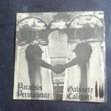 Discos de vinilo: PARALISIS PERMANENTE / GABINETE CALIGARI. EP. 1981. Lote 287474213