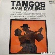 Discos de vinilo: VINILO TANGOS JUAN D' ARIENZO Y SU ORQUESTA TÍPICA.. Lote 287482153