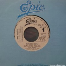 Discos de vinilo: THE ROLLING STONES SINGLE SELLO EPIC EDITADO EN ESPAÑA AÑO 1986 PROMO SOLO UNA CARA.... Lote 287490308