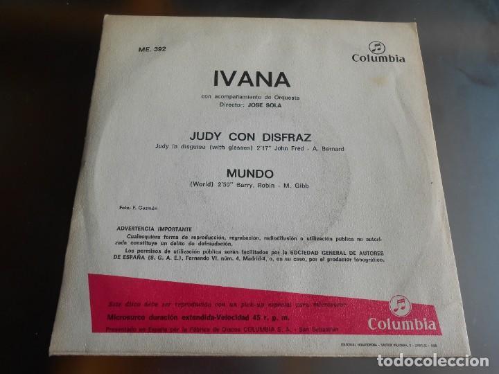 Discos de vinilo: IVANA, SG, JUDY CON DISFRAZ + 1, AÑO 1967 - Foto 2 - 287493398