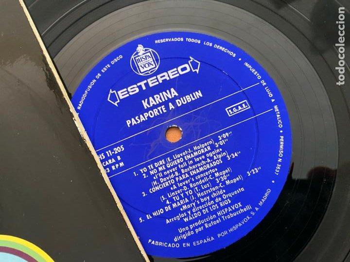 Discos de vinilo: KARINA (PASAPORTE A DUBLIN) LP ESPAÑA 1971 (B-33) - Foto 2 - 287552213