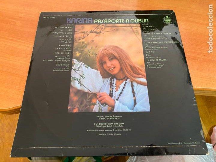 Discos de vinilo: KARINA (PASAPORTE A DUBLIN) LP ESPAÑA 1971 (B-33) - Foto 3 - 287552213