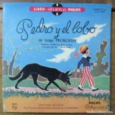 Discos de vinilo: PROKOFIEV - PEDRO Y EL LOBO - NARRADO POR ENRIQUE BERGIER - 1958 - 10 PULGADAS - LIBRO DISCO. Lote 287553853
