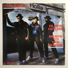 Discos de vinilo: RUN-DMC – RUN'S HOUSE / BEATS TO THE RHYME, EUROPE 1988 LONDON RECORDS. Lote 287561278
