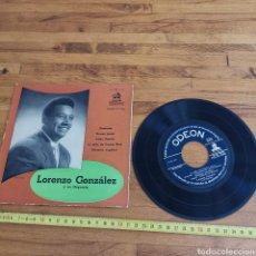 Discos de vinilo: DISCO DE VINILO DE 45RPM DE LORENZO GONZÁLEZ Y SU ORQUESTA. Lote 287562118