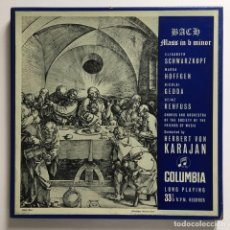 Discos de vinilo: BACH - CHORUS & ORCHESTRA OF THE SOCIETY OF THE FRIENDS OF MUSIC, HERBERT VON KARAJAN – MASS IN B. Lote 287562308