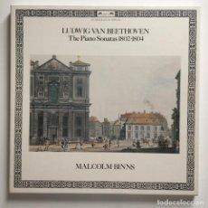 Discos de vinilo: LUDWIG VAN BEETHOVEN, MALCOLM BINNS – THE PIANO SONATAS 1802-1804, BOX 3 LPS, EUROPE 1981 L'OISEAU. Lote 287563328