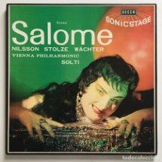 Discos de vinilo: STRAUSS - NILSSON, STOLZE, WÄCHTER, VIENNA PHILHARMONIC, SOLTI – SALOME, BOX 2 LPS, UK 1962 DECCA. Lote 287563933