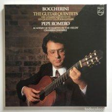 Discos de vinilo: BOCCHERINI, ACADEMY OF ST. MARTIN-IN-THE-FIELDS' CHAMBER ENSEMBLE, PEPE ROMERO –THE GUITAR QUINTETS. Lote 287564488