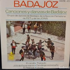 Discos de vinilo: SECCIÓN FEMENINA F.E.T. Y DE LAS J.O.N.S / CANCIONES DE BADAJOZ / EP - HISPAVOX-1963 / MBC. ***/***. Lote 287567628
