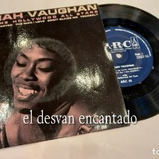 Discos de vinilo: SARAH VAUGHAN WITH THE HOLLYWOOD ALL STARS – I CAN´T GET STARTED - EP ORIGINAL UK 1965 – ARC 65. Lote 287568498