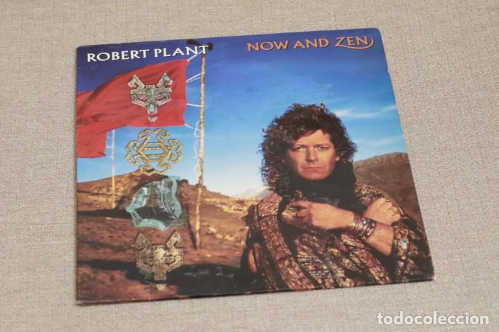 ROBERT PLANT - NOW AND ZEN - ESPAÑA - ENCARTE - 1988 - VG/VG+ (Música - Discos - LP Vinilo - Pop - Rock - New Wave Internacional de los 80)