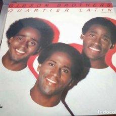 Discos de vinilo: GIBSON BROTHERS – QUARTIER LATIN.1981. SELLO: CARNABY – TXS 3230. LP. NUEVO. MINT / NEAR MINT. Lote 287581503