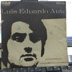 Discos de vinilo: LUIS EDUARDO AUTE SOLO LA CARPETA DEL SINGLE YO PERTENEZCO SOLO LA CARPETA 1969. Lote 287586933