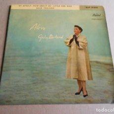 Discos de vinilo: JUDY GARLAND - ALONE -, EP, BY MYSELF + 3, AÑO 1960. Lote 287590508