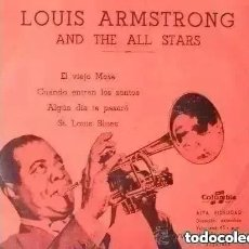 Discos de vinilo: LOUIS ARMSTRONG - EL VIEJO MOSE + 3 (EP). Lote 287612668
