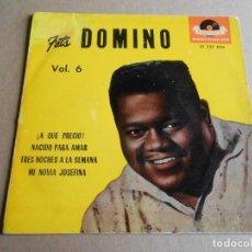 Discos de vinilo: FATS DOMINO, EP, ¡ A QUE PRECIO ! + 3, AÑO 1961. Lote 287643708