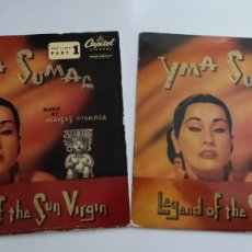 Discos de vinilo: YMA SUMAC (EP) LEYENDA DE LA VIRGEN DEL SOL 1 Y 2 - CAPITOL 1958 - LEGEND OF THE AÚN VIRGIN. Lote 287644808