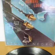 Discos de vinilo: AZUL Y NEGRO EL HOMBRE LOBO. Lote 287647533