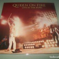 Disques de vinyle: QUEEN - QUEEN ON FIRE LIVE AT THE BOWL .. 3 LP´S 2 - NUEVA EDICION - JOYA DIFICIL - NUEVO PRECINTADO. Lote 287683403