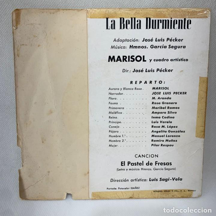 Discos de vinilo: EP MARISOL - LA BELLA DURMIENTE DEL BOSQUE - ESPAÑA - AÑO 1962 - Foto 4 - 287698153