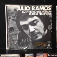 """Discos de vinilo: JULIO RAMOS - EL ENTIERRO DEL PASTOR / RARO 7"""" 1971. NM-NM (VINILO NUEVO SIN USAR). Lote 287698298"""
