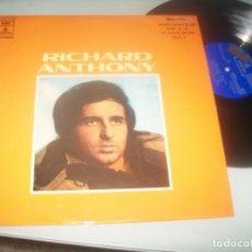 Discos de vinilo: RICHARD ANTHONY CANTA EN FRANCES Y ESPAÑOL ..LP 1970 - EMI-ODEON EDICION PROMOCIONAL - MUY DIFICIL. Lote 287716693