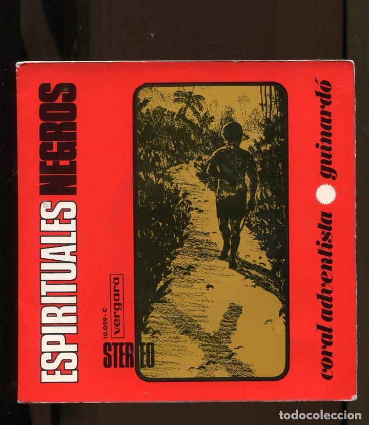 CORAL ADVENTISTA DEL GUINARDÓ. CANTOS NEGROS ESPIRITUALES. EP. VERGARA 1968 (Música - Discos de Vinilo - EPs - Funk, Soul y Black Music)