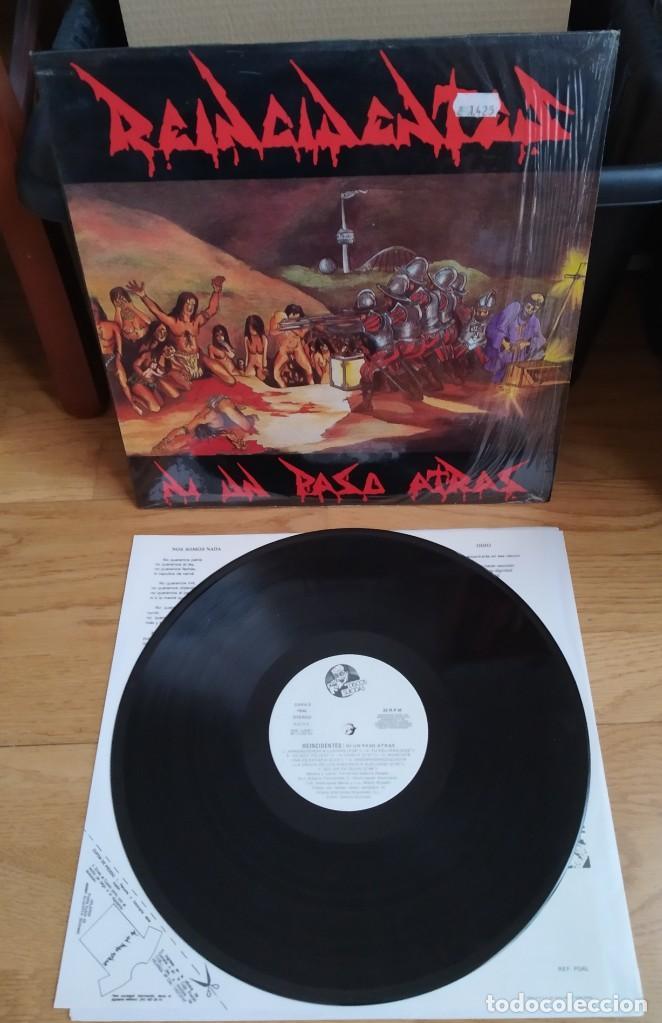 VINILO REINCIDENTES – NI UN PASO ATRÁS. ED 1991. (Música - Discos - LP Vinilo - Punk - Hard Core)