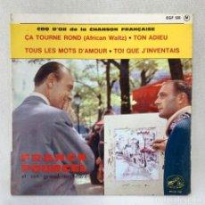 Discos de vinilo: EP FRANCK POURCEL ET SON GRAND ORCHESTRE - ÇA TOURNE ROND - FRANCIA - AÑO 1961. Lote 287733558
