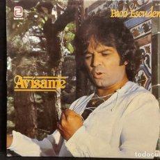 Discos de vinilo: PACO ESCUDERO / AVÍSAME / LP - ZAFIRO-1982 / MBC. ***/***. Lote 287737983