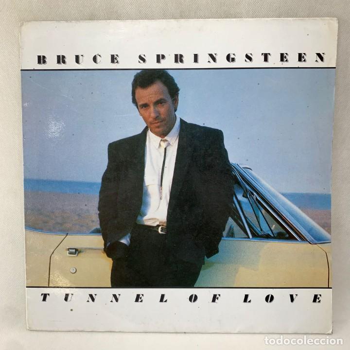 LP - VINILO BRUCE SPRINGSTEEN - TUNNEL OF LOVE + ENCARTE - ESPAÑA - AÑO 1987 (Música - Discos - LP Vinilo - Pop - Rock - New Wave Internacional de los 80)