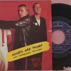 """Discos de vinilo: 7"""" TRIO - HEARTS ARE TRUMP = LOS CORAZONES TRIUNFAN - MERCURY 814 418-7 - SPAIN PRESS (EX-/EX). Lote 287743193"""
