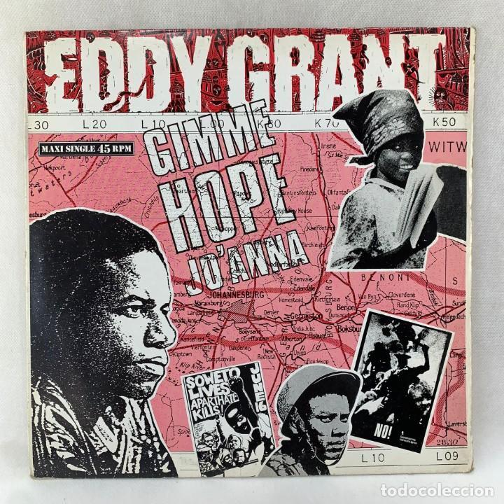MAXI SINGLE EDDY GRANT - GIMME HOPE JO'ANNA - ESPAÑA - AÑO 1988 (Música - Discos de Vinilo - Maxi Singles - Reggae - Ska)