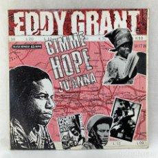 Discos de vinilo: MAXI SINGLE EDDY GRANT - GIMME HOPE JO'ANNA - ESPAÑA - AÑO 1988. Lote 287744088
