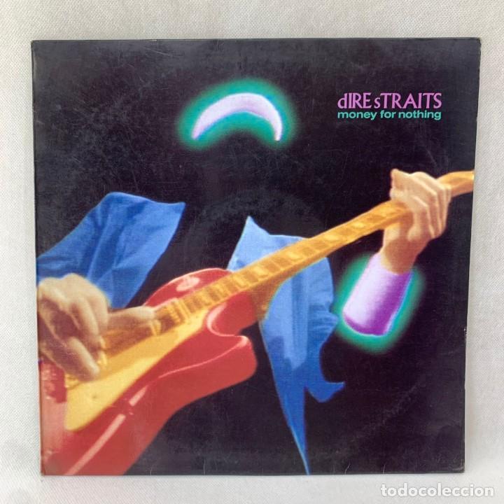 LP - VINILO DIRE STRAITS - MONEY FOR NOTHING + ENCARTE - ESPAÑA - AÑO 1988 (Música - Discos - LP Vinilo - Pop - Rock - New Wave Internacional de los 80)
