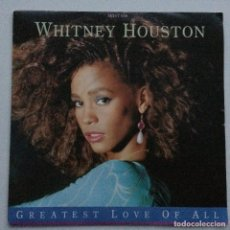 Discos de vinilo: WHITNEY HOUSTON – GREATEST LOVE OF ALL / THINKING ABOUT YOU, UK 1986 ARISTA. Lote 287756833