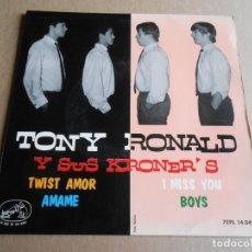 Discos de vinilo: TONY RONALD Y SUS KRONER´S, EP, TWIST AMOR + 3, AÑO 1964. Lote 287766498
