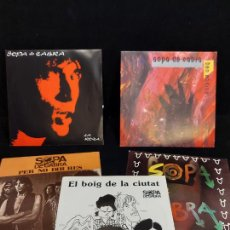 Discos de vinilo: IMPECABLES - SIN USO / SOPA DE CABRA / CONJUNTO DE 5 SINGLES / VER LAS FOTOS ****/****. Lote 287766688