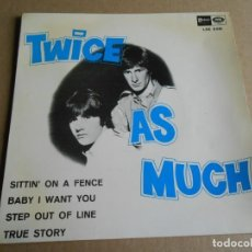 Discos de vinilo: TWICE AS MUCH, EP, SITTIN´ ON A FENCE + 3, AÑO 1967. Lote 287770088