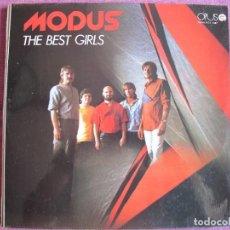Discos de vinilo: LP - MODUS – THE BEST GIRLS (CZECHOSLOVAKIA, OPUS RECORDS 1985). Lote 287770263