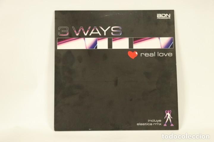 VINILO 3 WAYS - REAL LOVE (Música - Discos de Vinilo - Maxi Singles - Techno, Trance y House)