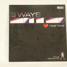 Discos de vinilo: VINILO 3 WAYS - REAL LOVE. Lote 287771043