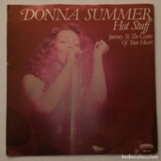 Discos de vinilo: DONNA SUMMER – HOT STUFF / JOURNEY TO THE CENTRE OF YOUR HEART, USA 1979 CASABLANCA. Lote 287771818