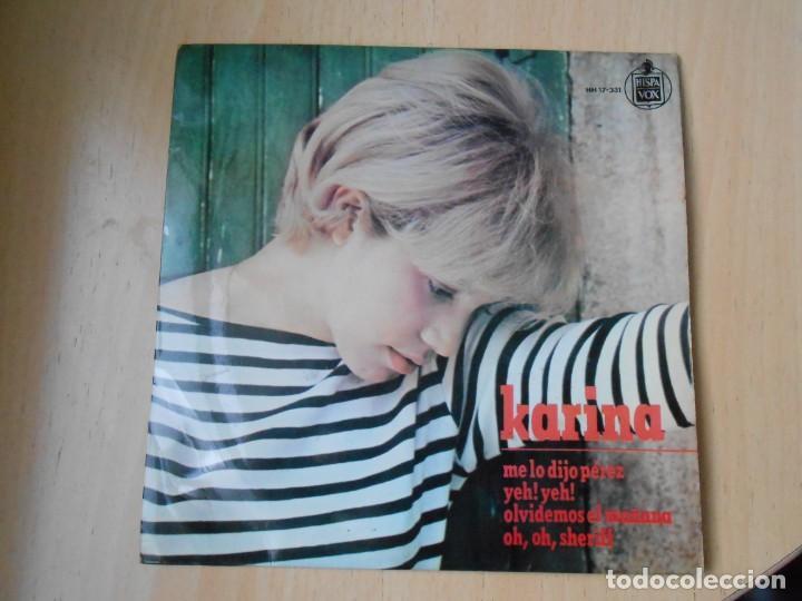 KARINA, EP, ME LO DIJO PÉREZ + 3, AÑO 1965 (Música - Discos de Vinilo - EPs - Solistas Españoles de los 50 y 60)