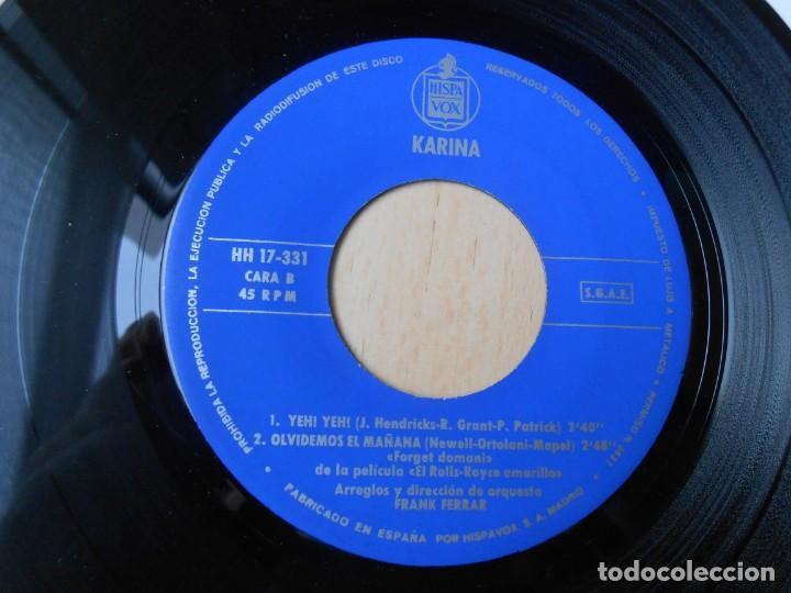 Discos de vinilo: KARINA, EP, ME LO DIJO PÉREZ + 3, AÑO 1965 - Foto 4 - 287775493