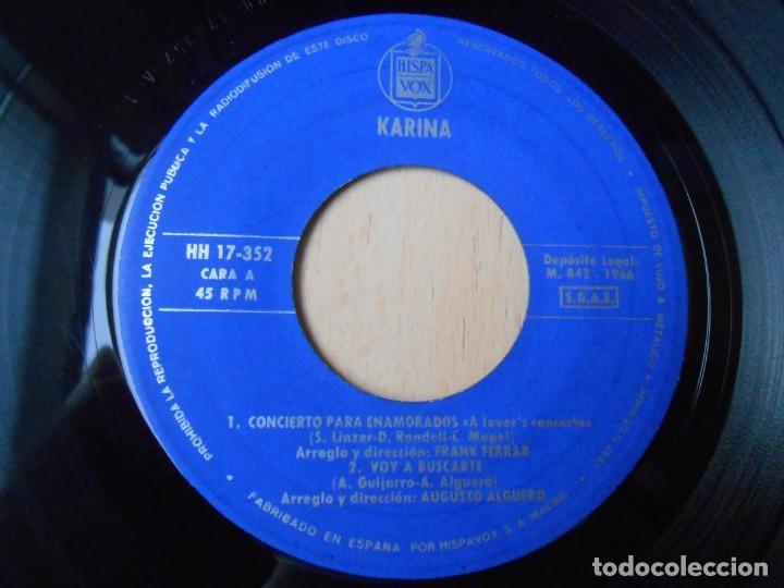 Discos de vinilo: KARINA, EP, CONCIERTO PARA ENAMORADOS + 3, AÑO 1966 - Foto 3 - 287776483